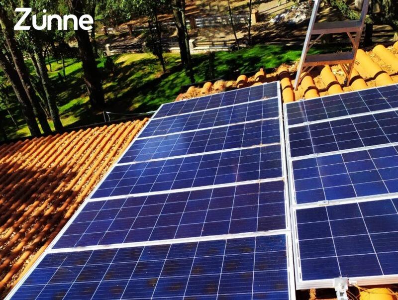 Paneles solares para el campo