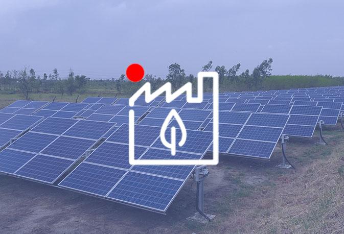 Instalacion de paneles solares industrial