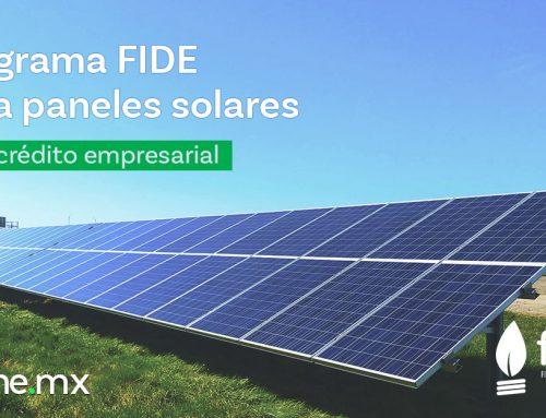Programa FIDE para paneles solares