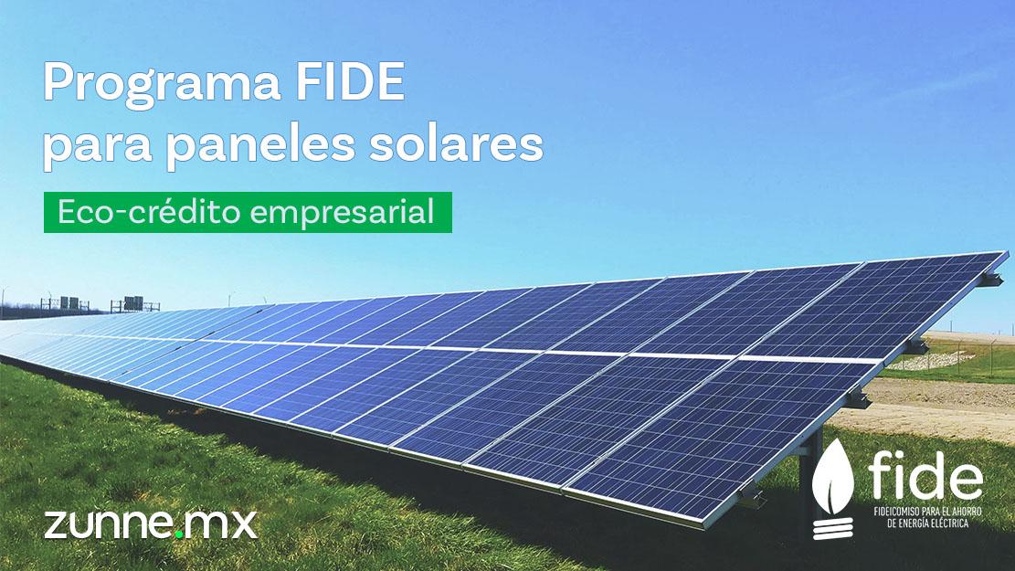 Programa FIDE Paneles solares