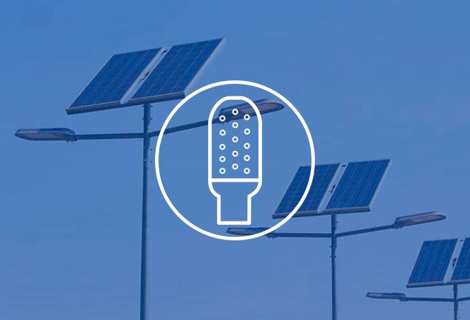 Luminaria solar autónoma