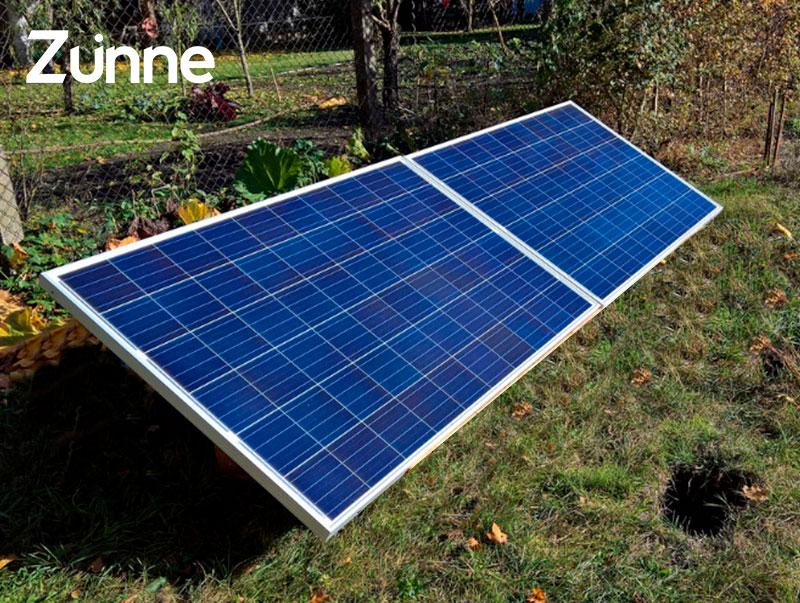 Paneles solares sistema en isla