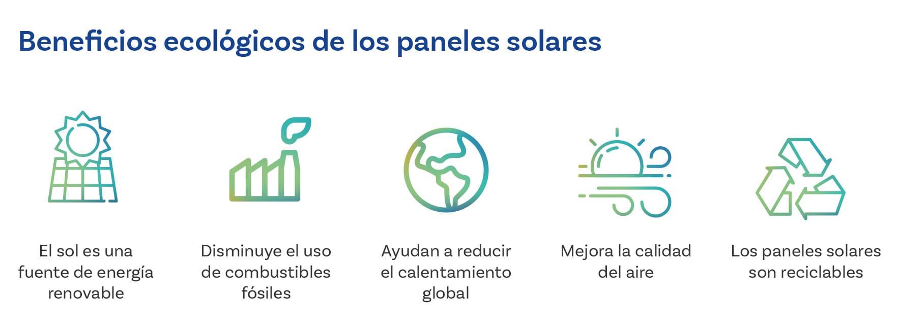 Beneficios ecologicos de los paneles solares
